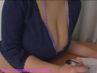 Busty Asian with natural big boobs